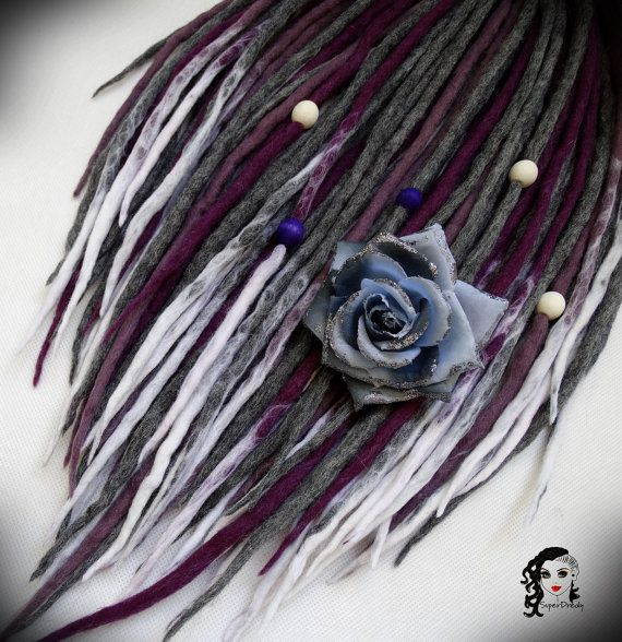 Hey, I found this really awesome Etsy listing at https://www.etsy.com/listing/244955204/wool-dreadlocks-dreads-heather-valley-de