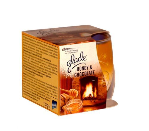 Glade honey and chocolate scented candle 120g