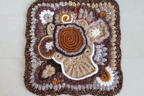 Freeform Crochet Wall Hanging  Rug  Afghan by levintovich on Etsy, $189.00