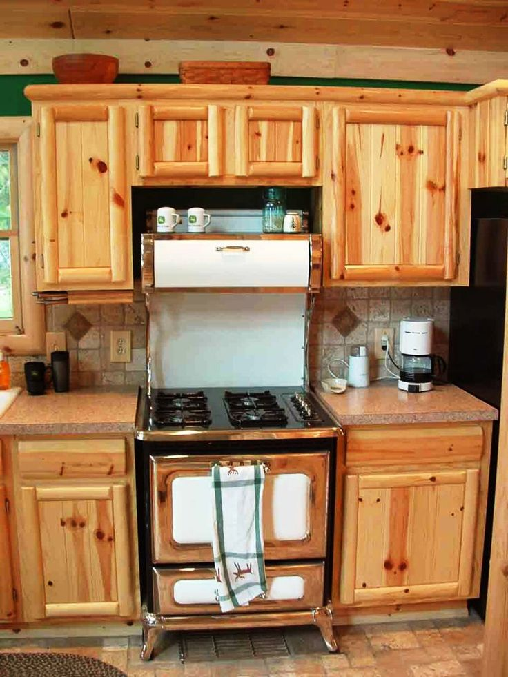 Rustikale Unvollendet Kiefer Küche