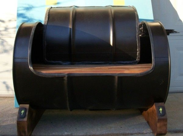 oil drum recycled into seating my style oil drum drum chair drums. Black Bedroom Furniture Sets. Home Design Ideas