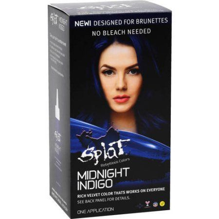 Splat Midnight Indigo, Semi-Permanent Hair Dye, Blue