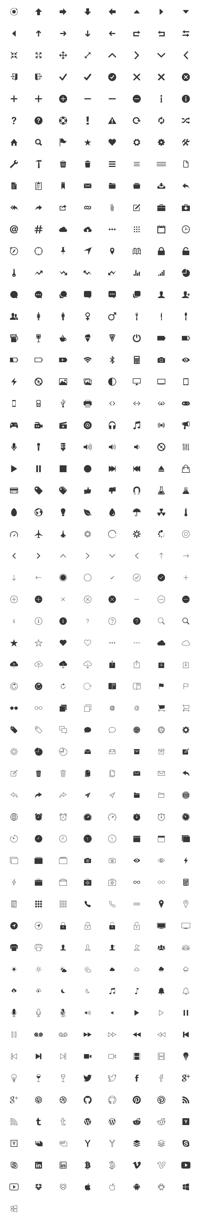 Ionicons - A free premium set of #icons