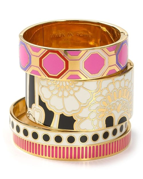 Kate Spade...I have a few and they are beautiful...stack them!: Arm Candy, Style, Color, Spade Bangles, Accessor, New York, Bangles Bracelets, Kate Spade, Gold Bangles