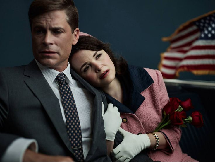 "A great promo shot of Rob Lowe and Ginnifer Goodwin in the critically-panned film ""Killing Kennedy"" 2013"