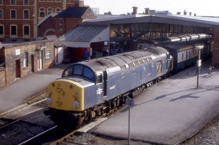 Grimsby Town Train Station in Grimsby North Lincolnshire England in the 1980's