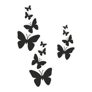 silueta mariposas volando blanco y negro - Buscar con Google
