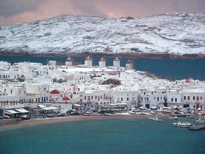 Iarna in Insula Mykonos