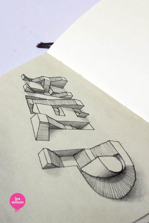 Les jolis lettrages 3D de Lex Wilson