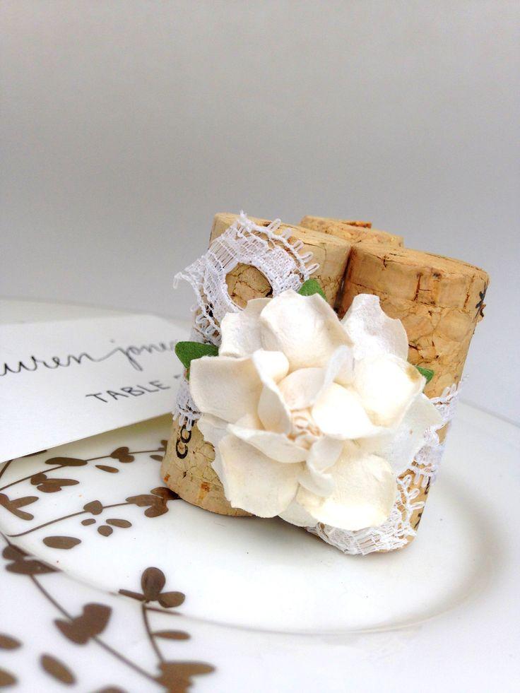 lace u0026 flower place card holder