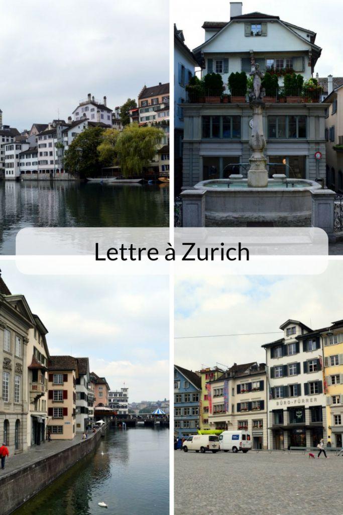Lettre à Zurich... pourquoi je n'ai pas accroché, mais pourquoi je ne la déteste pas non plus ! Et puis un petit guide des trucs que j'ai quand même aimés! * * * #Zurich #Suisse