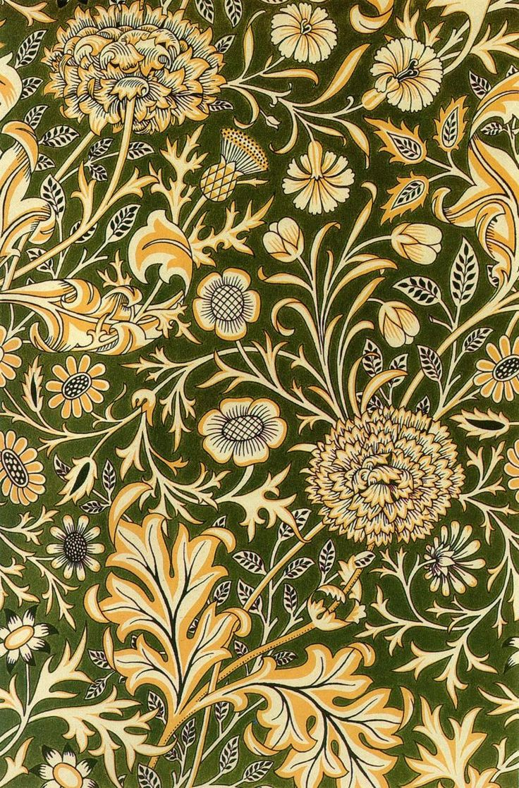 William Morris, Part III. 'Cherwell Design (for Printed Velveteen)'