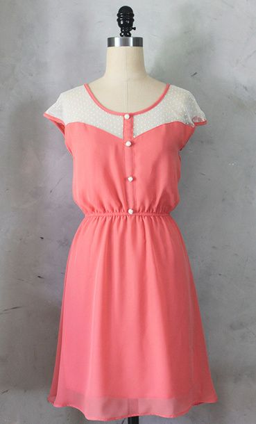 Petit Dejeuner Dress Coral