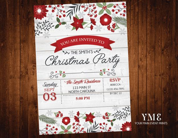 The 25+ Best Christmas Party Invitation Template Ideas On   Office Party  Invitation Templates  Office Party Invitation Templates