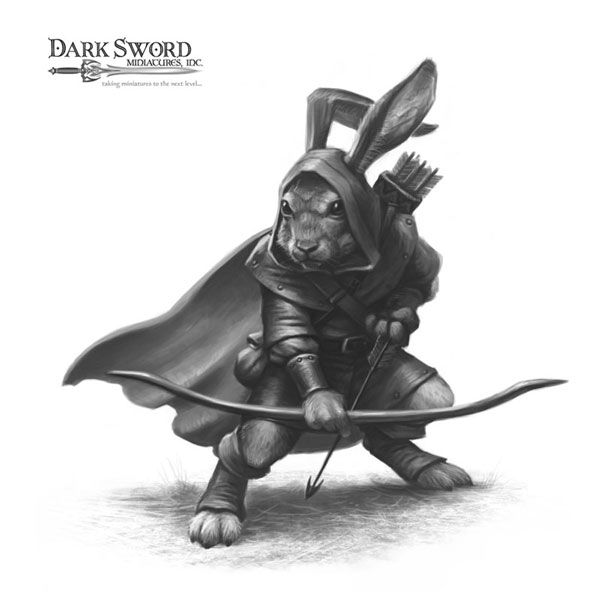 Rabbit Ranger - Critter Kingdoms™ Anthropomorphic Animals - Miniature Lines