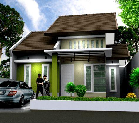 Contoh Kombinasi Cat Rumah Minimalis Warna Hijau di 2020 ...
