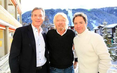 Qualcomm Chairman Dr Paul Jacobs, Sir Richard Branson, and OneWeb's Greg Wyler