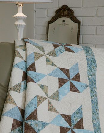 Blue Ribbon Swirls: Lap FREE Queen Quilt Pattern from McCall's. Really pretty.
