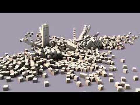 Blender 3D physics animation Casse-Brique http://g