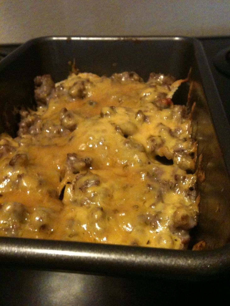 Grieving Cowboy Casserole -very easy and good. Really great for us b/c I usually keep all the ingredients in the house. Serve with sour cream on top.