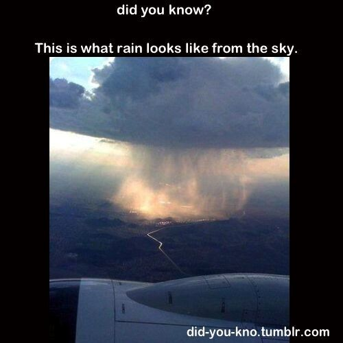 Did you know? This is what rain looks like from the sky.