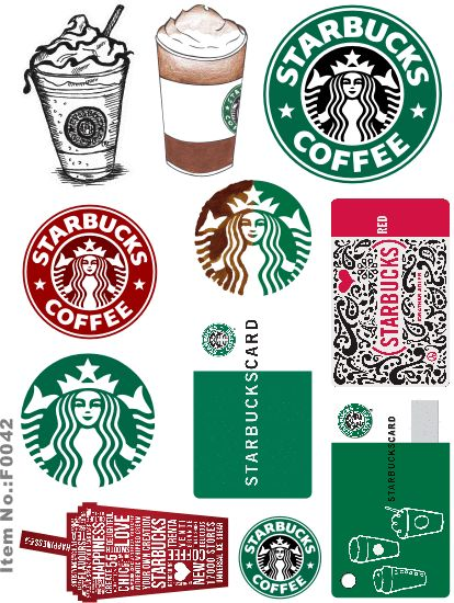 Starbucks brand logo skateboard snowboard luggage car bike vinyl stickers f0042