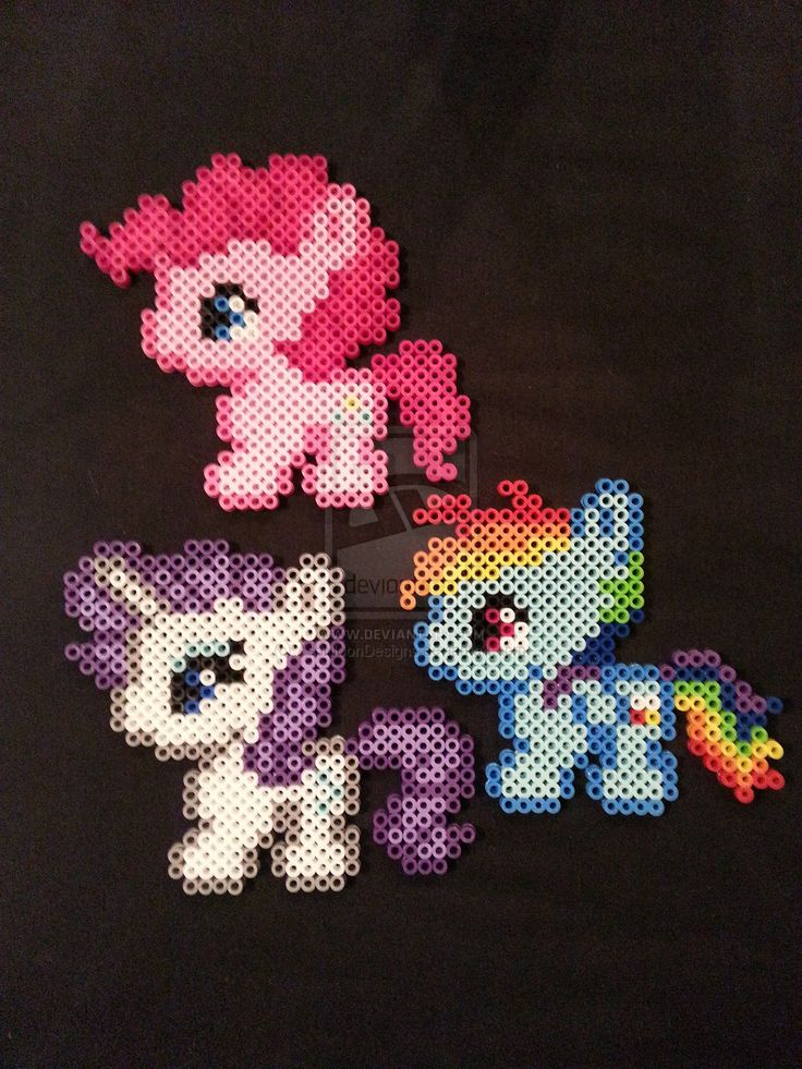 My Little Pony Perler Figures by AshMoonDesigns.deviantart.com on @deviantART