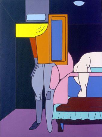 Valerio Adami – I pantaloni da cavallo, 1969