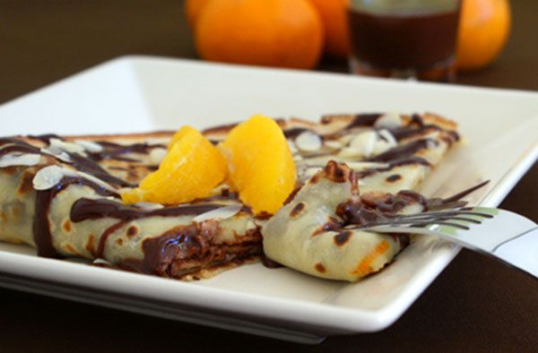 French Crepes Recipe: Crepes with Orange Zest Filled with Chocolate Ganache