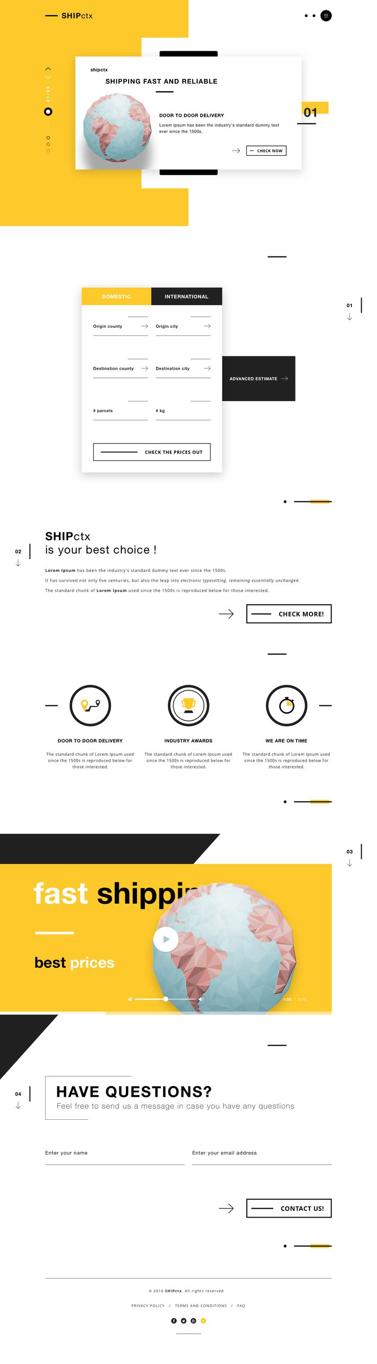 SHIPctx - Shipping services – Landing page by Robert B.