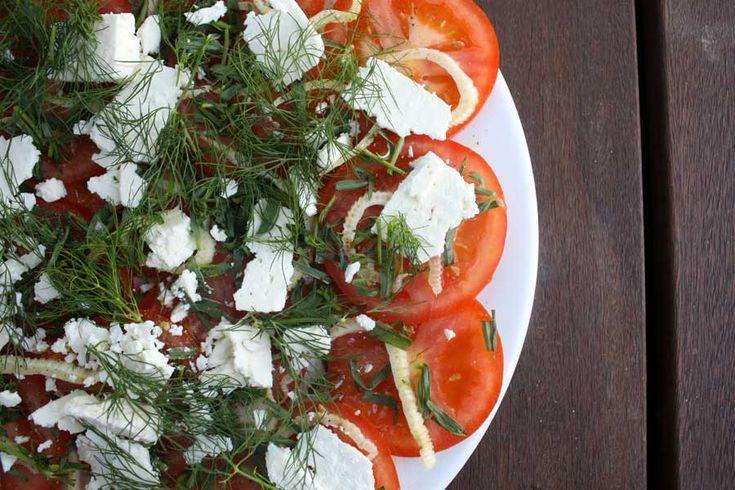 Tomato salad with tarragon // Tomatsalat med estragon