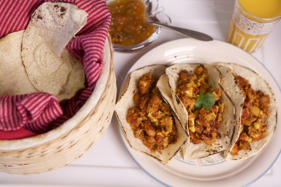 #tacos for #breakfast #egg #chorizo