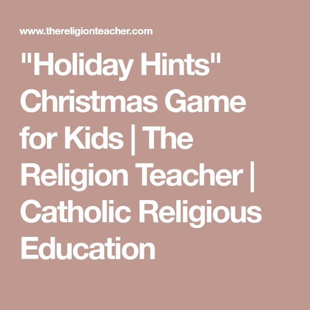 """Holiday Hints"" Christmas Game for Kids 