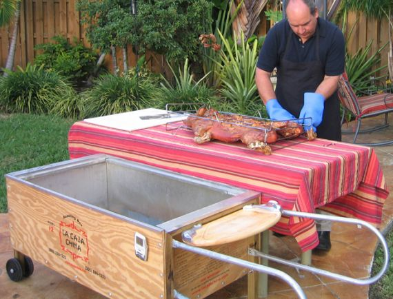 Cut Bbq Time In Half With La Caja China Pig Roasting Bo Roast Delicious Pigs Our Easy To Use Cajun Microwave Meat Cooking Box