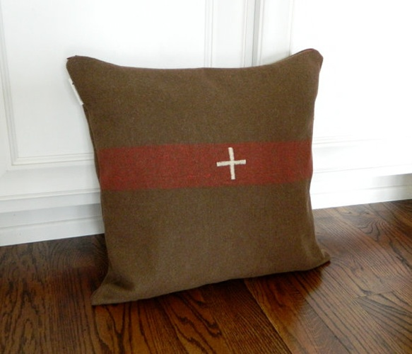Swiss Cross Military Cover  by Brin and Nohl: Army Strong, Accent Pillows, Crosses Military, Aidan Rooms, Boys Rooms, Boy Rooms, Crosses Pillows, Boys Beds, Swiss Crosses