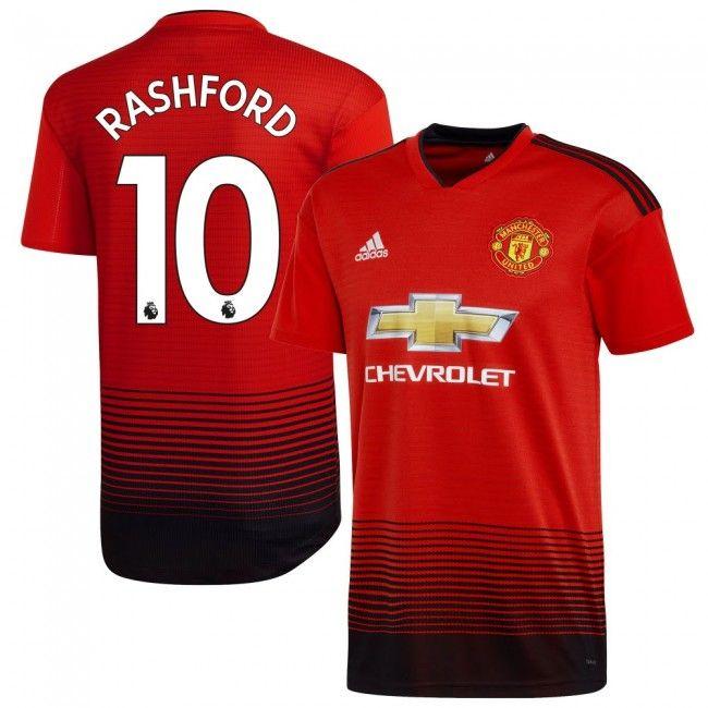 Manchester United 2018-2019 Rashford 10  Home  Local  Domicile  Heim ... b30e3ecb8a6b7