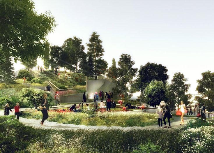 "Thomas Heatherwick to build $130 million ""treasure island"" on New York's Hudson River."