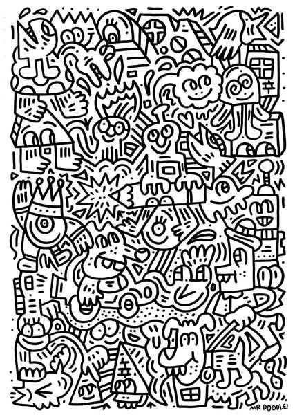 List Of Mr Doodle Coloring Book Pict