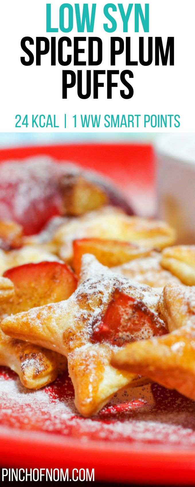 Low Syn Spiced Plum Puffs | Pinch Of Nom Slimming World Recipes     24 kcal | 1 Syn | 1 Weight Watchers Smart Points