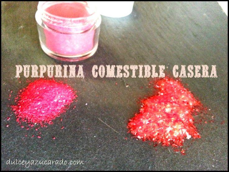 Dulce y Azucarado: Cómo hacer Purpurina / Brillantina Comestible
