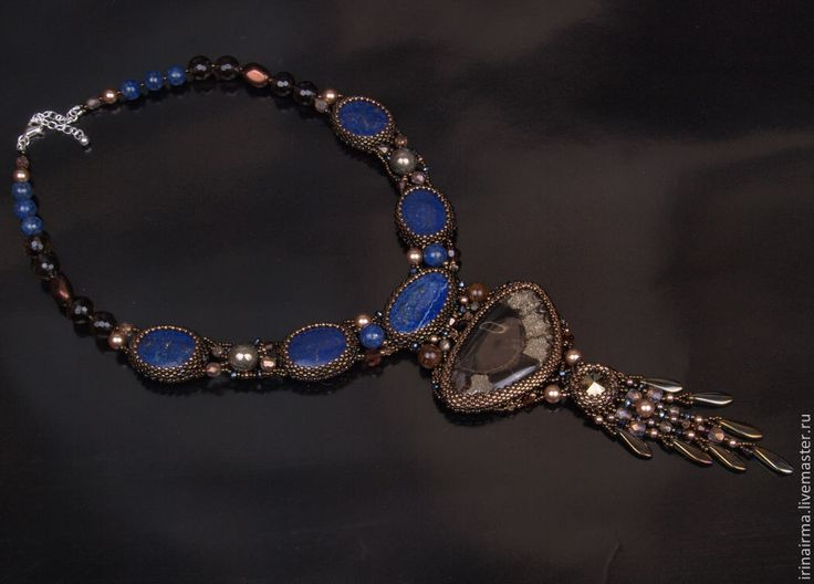 """Колье, """"Звездные ночи Магриба"""". Handmade."""