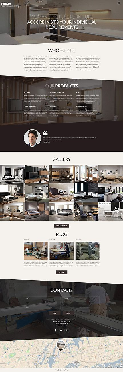 Interior Furniture Manufacturing Company #Joomla #template. #themes #business #responsive #Joomlathemes