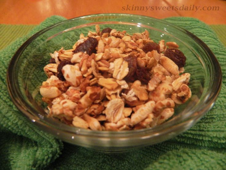Crunchy Low Fat / Low Calorie Granola