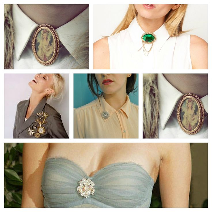 Style Notes How To Wear Vintage Brooches Fashion Jewelry Brooches Pinterest Inspiration