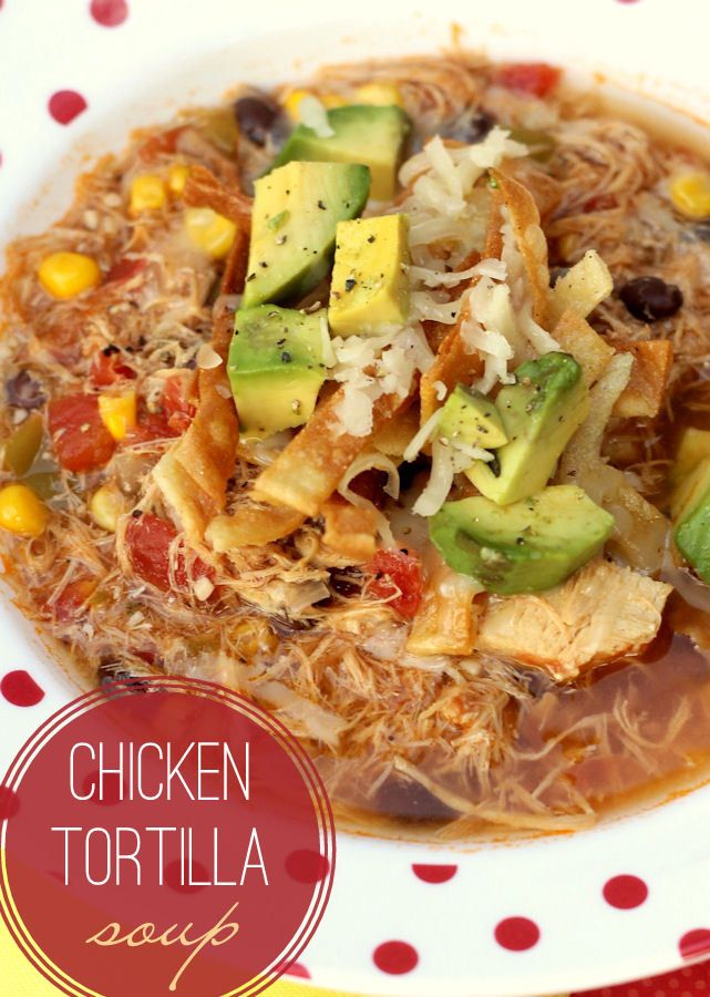 The BEST Chicken Tortilla Soup recipe - easy and delicious - the best kinds of recipes!