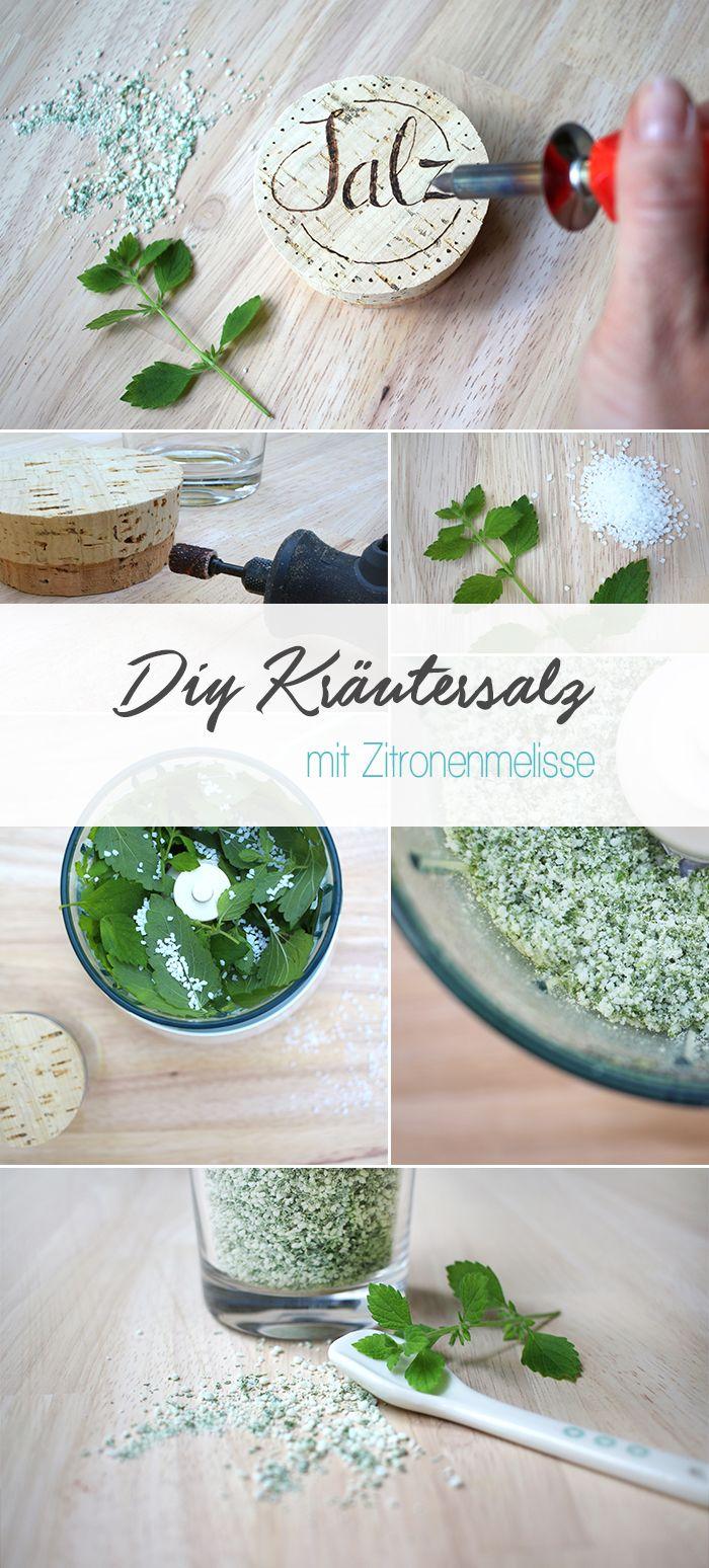 Gingered Things, DIY, Kräutersalz, Zitronenmelisse, Rezept, Gastgeschenk, Küche, Garten, Korken, Holzbrennen