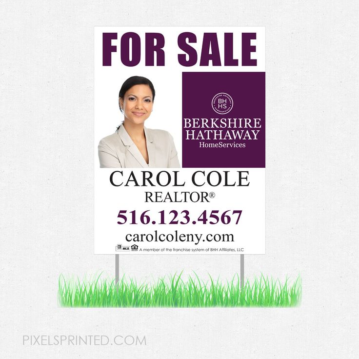 real estate yard signs, real estate lawn signs, realtor yard signs, realtor lawn signs, Berkshire Hathaway yard sign, Berkshire Hathaway lawn sign, BHHS lawn sign, BHHS yard sign
