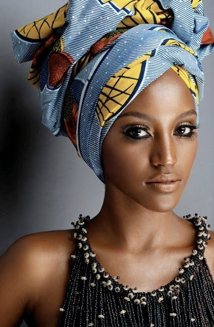 nouer mettre foulard cheveux africain