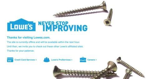 Lowe's Website Down, Not Working? Site Maintenance On Black Friday