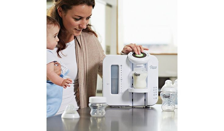 The tommee tippee Perfect Prep Machine, specially designed to make preparing bottles quicker and more accurate.